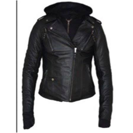 Derringer 6841-00-BLK-3XL Ladies Derringer 3-in-1 Lambskin Hoody Motorcycle Jacket Black - 3XL