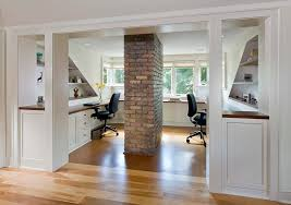 Minneapolis Exposed Chimney With Transitional Display And Wall Shelves Home Office Traditional Loft Modern Furniture