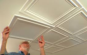 Polystyrene Ceiling Tiles Fire by Embossed Ceiling Tiles Add Elegance To A Room U2022 Diy Projects U0026 Videos