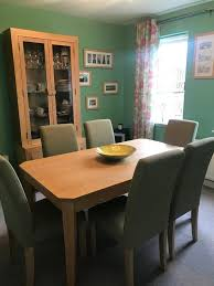 6 Originals Sage Green Dining Chairs | In Stewarton, East Ayrshire ... Shop Eleanor Sage Green Solid Wood Oval Table And X Back Chairs 5 Living Room Credainatncom High Fabric Ding Pair Mobel Oak Florence Kitchen Chair Country Style Chair With Henrik Walnut Seat Icon By Walker Edison Fniture Company Greyson 5piece White Two Full Upholstered Appealing Cushions Peter Lime Tw485pcsg Piece Set W Greenwich Velvet Stripe Serene Classic