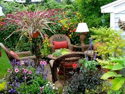 Rustic Small Garden Ideas And Terrace Rattan Outdoor Dining Set Colorful Flower