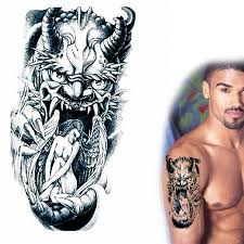 Sexy Nude Angel Trapped Monsters Paw Open Mouth Devil Temporary Tattoos That Look Real AX45 In From Beauty Health On Aliexpress