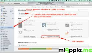 iBooks ePub PDF Sync Delete PDF from iBooks 03 miapple