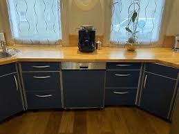 tolle küche in blau ohne geräte eur 1 00 picclick de