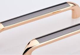 Modern Fashion Rose Gold Kitchen Cabinet Handles Black Dresser Pull 96mm Drawer Cupbord Wardrobe Furniture