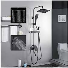 dusch set duscharmatur brause schwarz duschset wandmontage