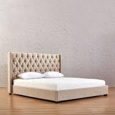 beige schlafzimmer betten polster bett chesterfield textil stoff neu jvmoebel