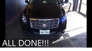 cadillac cts 08 13 headlight replacement repair no bumper removed