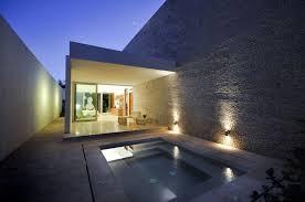 Wall Lights Along Pool