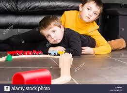 little boy playing wooden train stock photos u0026 little boy playing