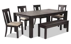 Summit 42 X 78 6 Piece Dining Set With Storage Bench