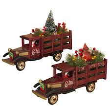 100 Wood Trucks Battery Operated Lighted Antique Christmas Holiday Set