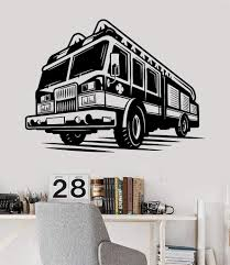 100 Fire Truck Wall Decals Vinyl Decal Fighter Engines Children Room