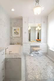 makeup vanities Bathroom Transitional with gray tile acrylic