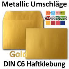 25x Briefumschläge HonigGelb DIN C6 Format 114 X 162 Mm