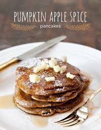 Easy Pumpkin Pancake Recipe quick u0026 easy pumpkin apple spice pancakes for thanksgiving