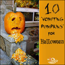 Picture Of Pumpkin Throwing Up Guacamole by Vomiting Pumpkins U0027 The Halloween Decorations We U0027d Die Without