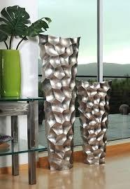 Stone Age Floor Vases Set This Original Design Features A Dove Grey Lacquer Finish That