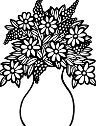 Bouquet Of Flowers Coloring Page For Pages New