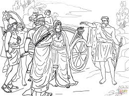 Click The Jezebel And Ahab Meeting Elijah In Naboths Vineyard Coloring Pages