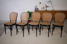 5 esszimmerstühle stühle wiener geflecht vintage thonetstil