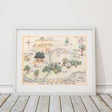 100 Winnie The Pooh Bedroom 100 acre wood map sign classic winnie the pooh nursery
