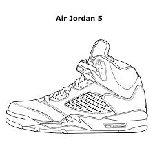 Jordan Sneakers Shoes Coloring Pages