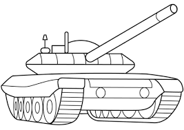 Click To See Printable Version Of Military Armored Tank Coloring Page