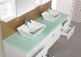Sears Bathroom Vanities Canada by Bathroom Sink On Top Of Vanity Concrete With 2 White Regard To