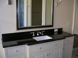 42 Inch Bathroom Vanity With Granite Top by Granite Bathroom Vanity In Absolute Black With Polished Finish And