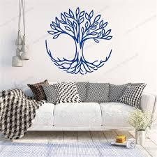 spirituelle wohnkultur wohnzimmer vinyl wand aufkleber schlafzimmer dekoration baum des lebens wand decals symbol der verbindung cx1638