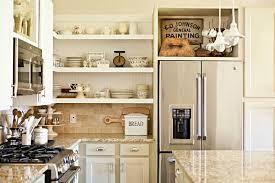 furniture cool wooden kitcehn cabinet design with open door shelf