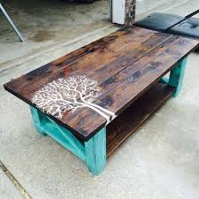 Painted Tree Pallet Coffee Tablethese Are The BEST DIY Ideas