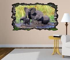 3d wandtattoo elefant elefanten baby familie afrika tiere selbstklebend wandbild wandsticker wohnzimmer wand aufkleber 11o329 3dwandtattoo24 de