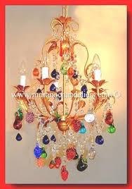 this colourful murano glass 5 light chandelier with