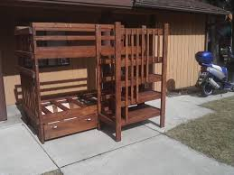 diy bunk bed set with stairs cubbie shelves and of course a