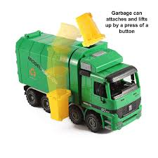 100 Kids Dump Truck 14 Oversized Friction Powered Recycling Garbage Toy For With Side Loading And Back Walmartcom