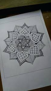 Henna Designs Drawings On Paper Unique Mandala Design Drawn In Ink Pen And Printed Glossy