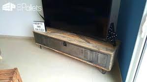 Tv Stand Diy Pallet Locker Video Rack Rustic Wood