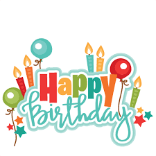 Happy Birthday Title SVG scrapbook cut file cute clipart files for