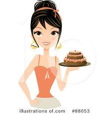 Royalty Free RF Cake Clipart Illustration by Melisende Vector