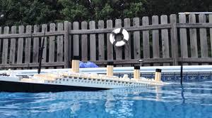 lego titanic model sinking aft view youtube