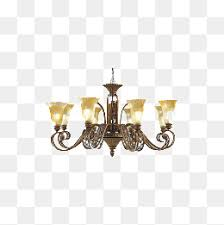 European Style Retro Chandelier Lighting Home Accessories Continental Ceiling PNG Image And