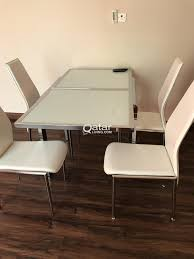 Kitchen Table Close Up W 4 Leatherette Chairs