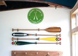 Decorative Oars And Paddles by Wood Paddle Hanger Sanborn Canoe Co