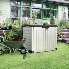 Keter Woodland Storage Box by Store It Out Arc Plastic Garden Storage Box Departments Diy At B U0026q
