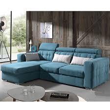 canapé couleur canapé angle convertible bleu en tissu sofamobili