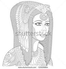 Adult Coloring Page Queen Nefertiti By Freienthurn On Etsy