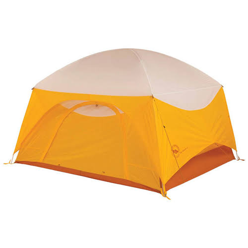 Big Agnes Big House 4 Person Tent - Gold Yellow and White