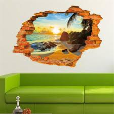 Wall Mural Decals Beach by Popular Window Beach Poster Buy Cheap Window Beach Poster Lots